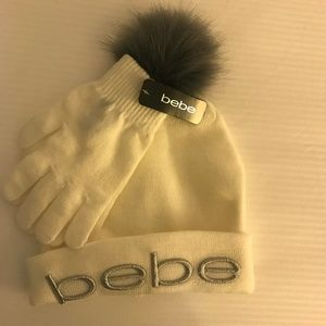 NWT- Bebe Hat and Gloves Set